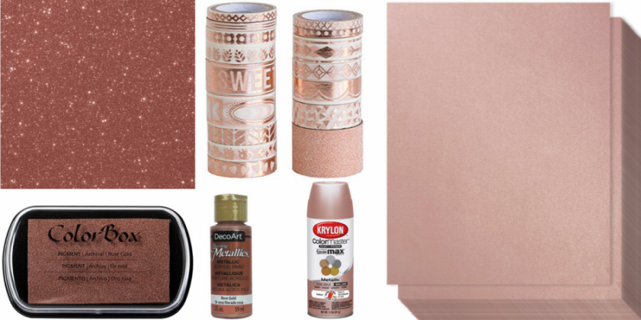 rose gold craft supplies